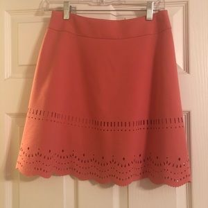 Loft work skirt with perforated detail